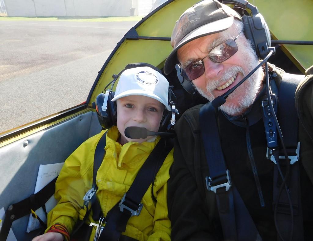 A shorter trip, but great fun - taking my grandson Dorian, for a flight