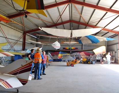 The museum hangar